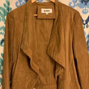 BB Dakota Jackets & Coats - BB Dakota whiskey faux suede draped jacket Large